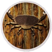 The Art Of The Crab Round Beach Towel