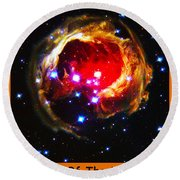 The Art Of The Universe 323 Round Beach Towel
