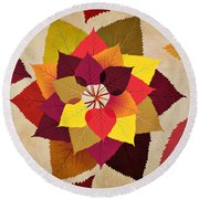 The Artistry Of Fall Round Beach Towel