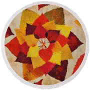 The Artistry Of Fall Klimt Homage Round Beach Towel