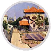 The Artists House At Yerres Round Beach Towel