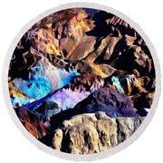 The Artists Palette Death Valley Round Beach Towel