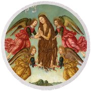 The Ascension Of Saint Mary Magdalene Round Beach Towel