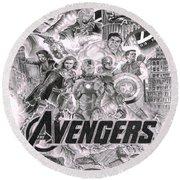 The Avengers Round Beach Towel