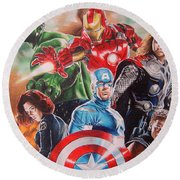 The Avengers Round Beach Towel