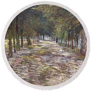 The Avenue At The Park Round Beach Towel