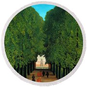 The Avenue In The Park At Saint Cloud    Round Beach Towel