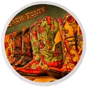 The Back Forty Boots Are Made For Dancin' Round Beach Towel