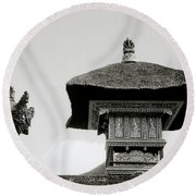 The Bali Temple Round Beach Towel