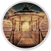 The Bandstand Round Beach Towel