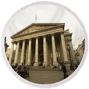 The Bank Of England  Round Beach Towel