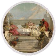 The Banquet Of Cleopatra Round Beach Towel