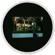 The Banyan House Resort In Key West Round Beach Towel