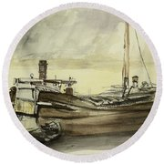 The Barge Round Beach Towel