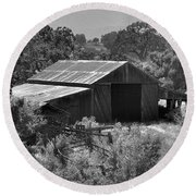 The Barn 2 Round Beach Towel