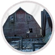 The Barn 3 Round Beach Towel