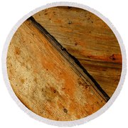 The Barn Door Round Beach Towel by William Jobes