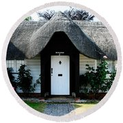 The Barn House Door Nether Wallop Round Beach Towel
