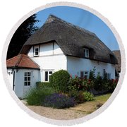 The Barn House Nether Wallop Round Beach Towel
