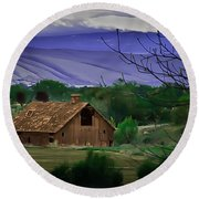 The Barn Round Beach Towel by Robert Bales