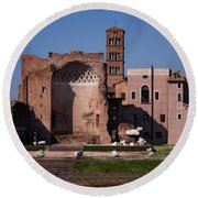 The Basilica Of Constantine Round Beach Towel