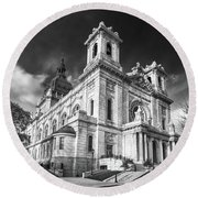 The Basilica Of St Mary Round Beach Towel