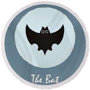 The Bat Cute Portrait Round Beach Towel