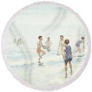 The Bathers Round Beach Towel by Edward van Goethem