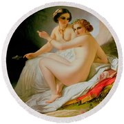 The Bathers Round Beach Towel by Louis Hersent