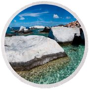 The Baths Round Beach Towel