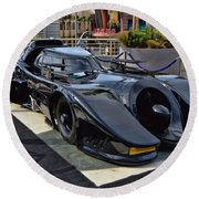 The Batmobile Round Beach Towel
