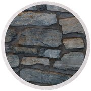 The Battery Wall Round Beach Towel