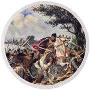The Battle Of Bouvines, 1214 Round Beach Towel