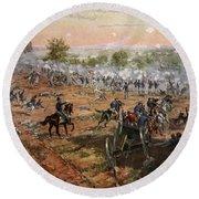 The Battle Of Gettysburg, July 1st-3rd Round Beach Towel