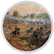 The Battle Of Gettysburg, July 1st-3rd Round Beach Towel