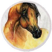The Bay Arabian Horse 14 Round Beach Towel
