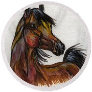 The Bay Horse 1 Round Beach Towel