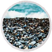 The Beach Of Rocks Round Beach Towel
