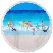 The Beach Parade Round Beach Towel