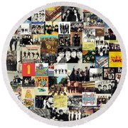 The Beatles Collage Round Beach Towel