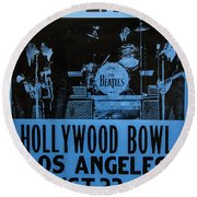 The Beatles Live At The Hollywood Bowl Round Beach Towel