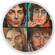 The Beatles Quad Round Beach Towel
