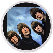 The Beatles Rubber Soul Round Beach Towel