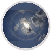 The Beauty Above Round Beach Towel