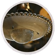 The Beauty Of A Vintage Glass Ceiling Light Round Beach Towel