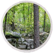The Beauty Of Boulder Field Round Beach Towel
