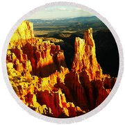 The Beauty Of Bryce Round Beach Towel