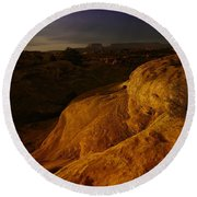 The Beauty Of Canyonlands Round Beach Towel