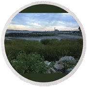 The Beauty Of Connecticut's Shoreline Round Beach Towel