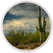 The Beauty Of The Desert Southwest  Round Beach Towel